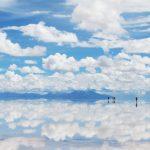 天空の鏡「ウユニ塩湖」が美しい。