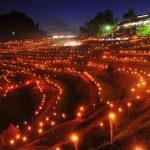1万本の灯りに大山千枚田が輝く!幻想的な光のイベント『2015 棚田の夜祭り』