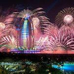 新年を祝う世界最大の花火!ドバイのカウントダウン花火が凄すぎる。