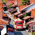 赤茶色で統一された風情ある街並み!岡山県高梁市の『吹屋』