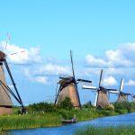 絵になるステキな風景♪オランダの世界遺産『キンデルダイクの風車』